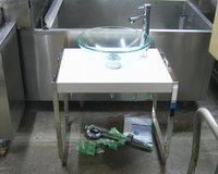洗面化粧台ガラスボウルタイプ